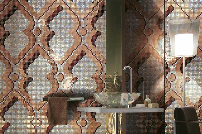 Wand- und Bodenbeläge aus Glasmosaik Muster
