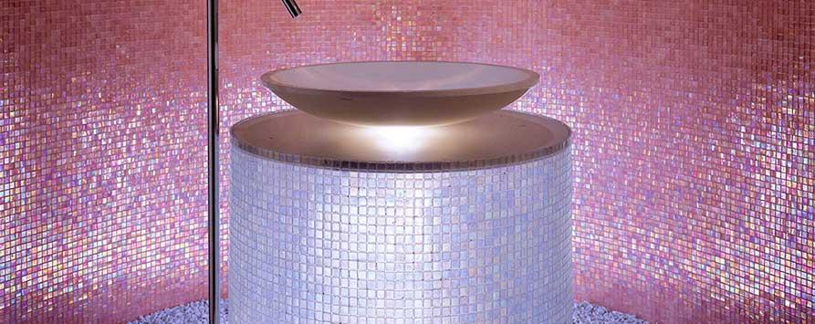 Beispiel für Glasmosaik