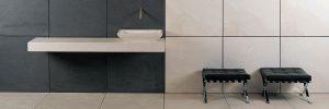 Wand- und Bodenbeläge: Grossformatige Platten